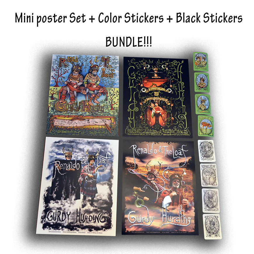 MiniPosters and Stickers Bundle