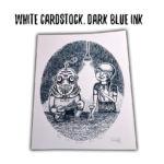 White/Dark Blue