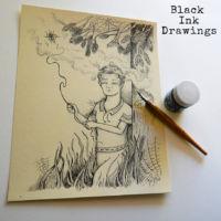 Black ink drawings